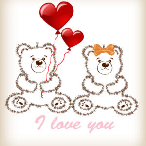 Vector Valentines Day Teddy Bear